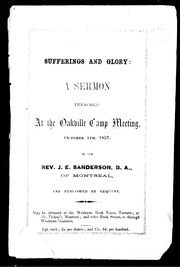 Cover of: Sufferings and glory