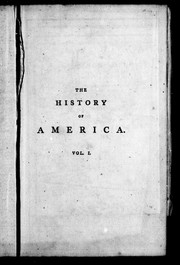 Cover of: The history of America