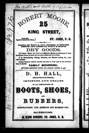 Cover of: The St. John and Fredericton 1862 business directory |