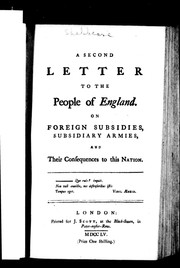 Cover of: A second letter to the people of England