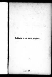 Cover of: Sabbaths in the Arctic regions