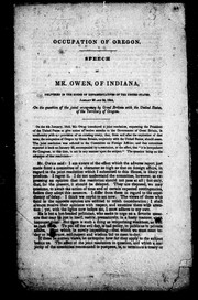 Cover of: Occupation of Oregon