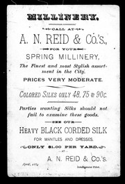 Cover of: Millinery | A. N. Reid & Co