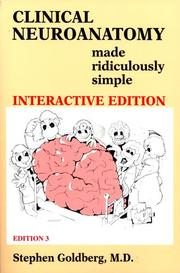 Cover of: Clinical Neuroanatomy Made Ridiculously Simple (3rd Edition; Book & CD-ROM)
