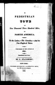 Cover of: A pedestrian tour of two thousand three hundred miles, in North America |