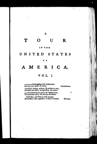 A tour in the United States of America by John Ferdinand Smyth Stuart
