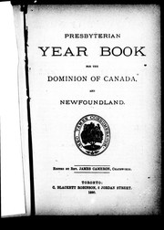 Cover of: Presbyterian year book for the Dominion of Canada and Newfoundland