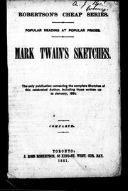 Mark Twain's sketches by Mark Twain