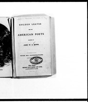 Cover of: Golden leaves from the American poets | John W. S. Hows