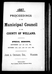 Cover of: Proceedings of the Municipal Council of the County of Welland | Welland (Ont. : County). Municipal Council