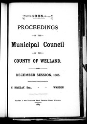 Cover of: Proceedings of the Municipal Council of the County of Welland
