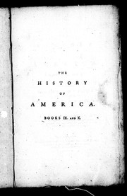 Cover of: The history of America, books IX and X