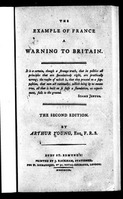 Cover of: The example of France a warning to Britain