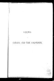 Cover of: Views of Canada and the colonists | Brown, James B.