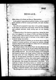 Cover of: Message | Abraham Lincoln