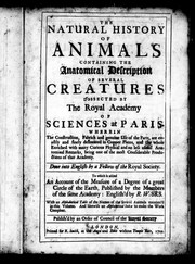 Cover of: The natural history of animals