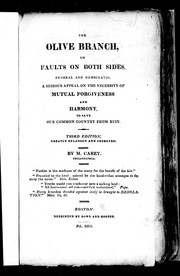 Cover of: The olive branch, or, Faults on both sides, Federal and Democratic