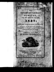 The Canadian farmers' almanac for the year of Our Lord 1837 by Zadock Thompson