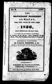 The Canadian farmers' almanac for the year of Our Lord 1836 by