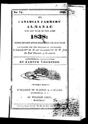 The Canadian farmers' almanac for the year of Our Lord 1838 by Zadock Thompson