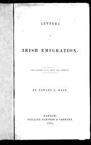 Letters on Irish emigration by Edward Everett Hale