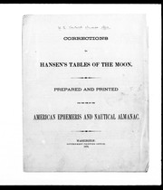 Cover of: Corrections to Hansen's tables of the moon