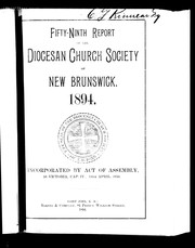 Cover of: Fifty-ninth report of the Diocesan Church Society of New Brunswick, 1894 | Better Homes and Gardens