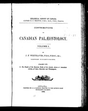 Cover of: Contributions to Canadian palæontology | J. F. Whiteaves