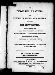 Cover of: The English reader, or, Pieces in prose and poetry