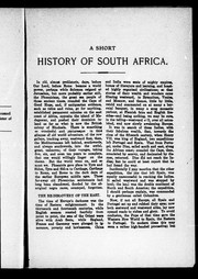 Cover of: A short history of South Africa | Gilbert Wintle