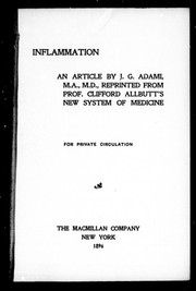 Cover of: Inflammation