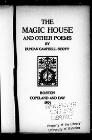 Cover of: The magic house and other poems