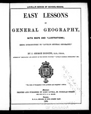 Cover of: Easy lessons in general geography, with maps and illustrations