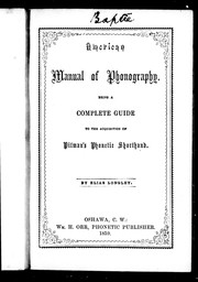 Cover of: American manual of phonography