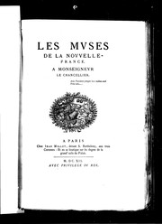 Cover of: Les muses de la Nouvelle-France