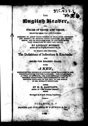 Cover of: The English reader, or, Pieces in prose and verse
