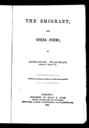 Cover of: The emigrant, and other poems