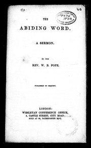 Cover of: The abiding word