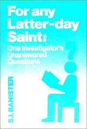 Cover of: For Any Latter-Day Saint