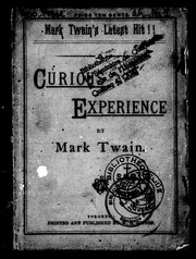 Cover of: A curious experience | Mark Twain