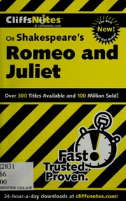 Cover of: CliffsNotes Romeo and Juliet | Annaliese F. Connolly