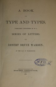 Cover of: A book of type and types