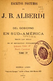 Cover of: Escritos póstumos de J. B. Alberdi