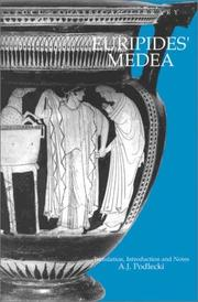Cover of: Euripides' Medea | Anthony Podlecki