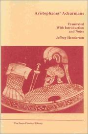 Cover of: Aristophanes' Acharnians | Jeffrey Henderson