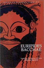 Cover of: Euripides' Bacchae