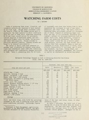 Cover of: Watching farm costs