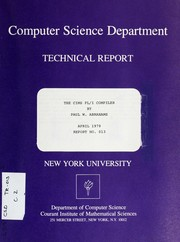 Cover of: The CIMS PL/I compiler