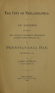 Cover of: The city of Philadelphia