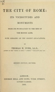 Cover of: The city of Rome, its vicissitudes and monuments